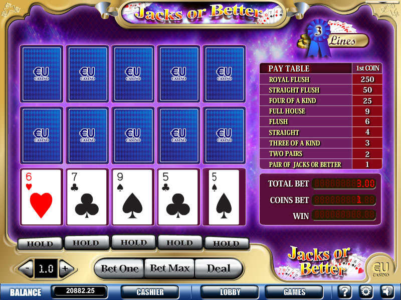 PLAY EUCASINO VIDEO POKER
